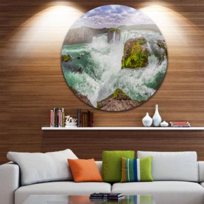 Design Art Majestic Godafoss Waterfall Iceland Landscape Print Wall Artwork