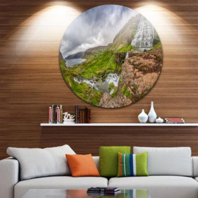 Design Art Dyjandi Waterfall Iceland Panorama Landscape Print Wall Artwork