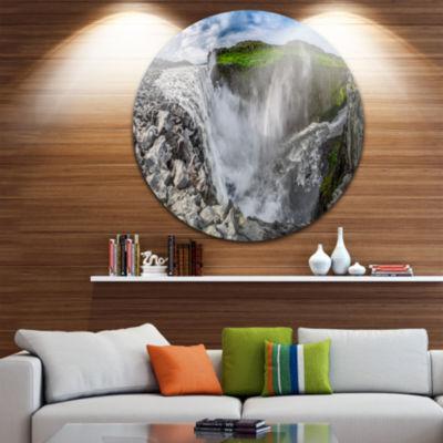 Design Art Stunning Dettifoss Waterfall Iceland Landscape Print Wall Artwork