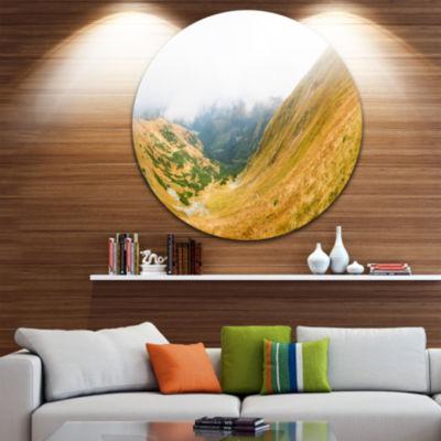 Design Art View from Volovec at Tatras Landscape Metal Circle Wall Art
