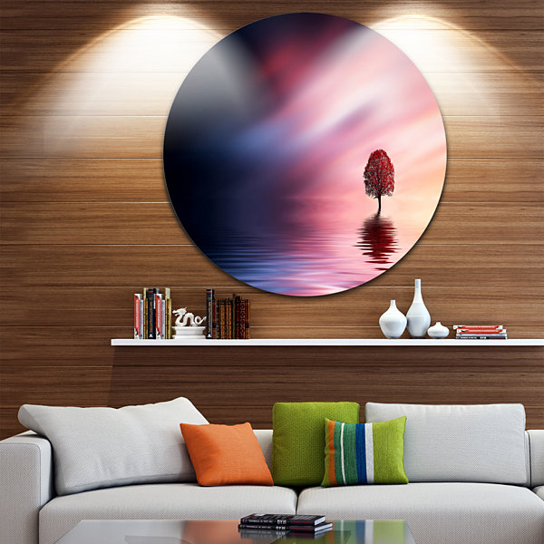 Design Art Astonishing Lonely Tree with Birds Extra Large Wall Art Landscape