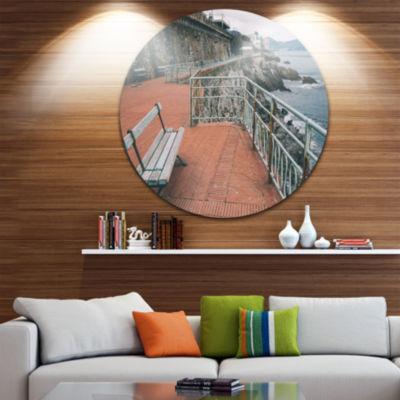 Design Art Seating in Genoa Nervi Coast Extra Large Seashore Metal Circle Wall Art