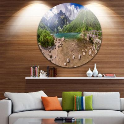 Design Art Majestic Lake in Tatra Mountains Landscape Print Wall Artwork
