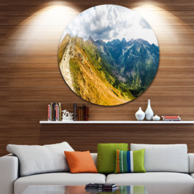 Design Art Low Tatras Hike Panorama Landscape Metal Circle Wall Art