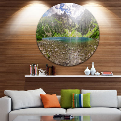Design Art Beautiful Alps Lake in Mountains Landscape Print Wall Artwork