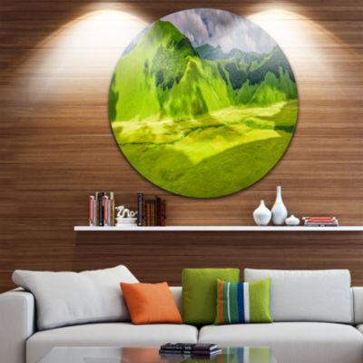 Design Art Mountains in Castelluccio Panorama Landscape Print Wall Artwork