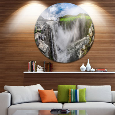 Design Art Awesome Dettifoss Waterfall Landscape Print Wall Artwork