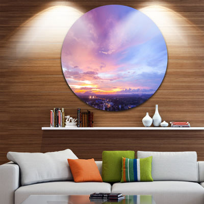 Design Art Beautiful Sunset at Trang Thailand Extra Large Wall Art Landscape