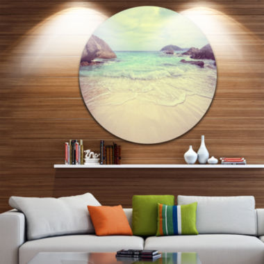 Design Art Vintage Style Seashore Thailand Extra Large Seascape Metal Wall Decor