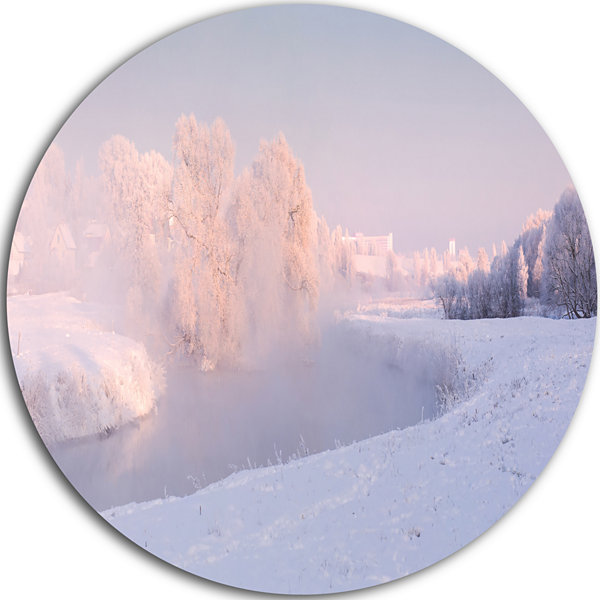 Design Art Frosty Winter Sunshine Panorama Landscape Print Wall Artwork