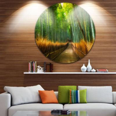 Design Art Arashiyama Bamboo Grove Japan OversizedForest Metal Artwork