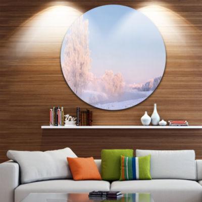 Design Art White Crystal Tree and Landscape Landscape Print Wall Artwork