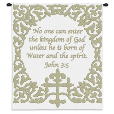 Baby Cross with Scripture Wall Tapestry