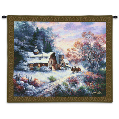 Snowy Evening Wall Tapestry