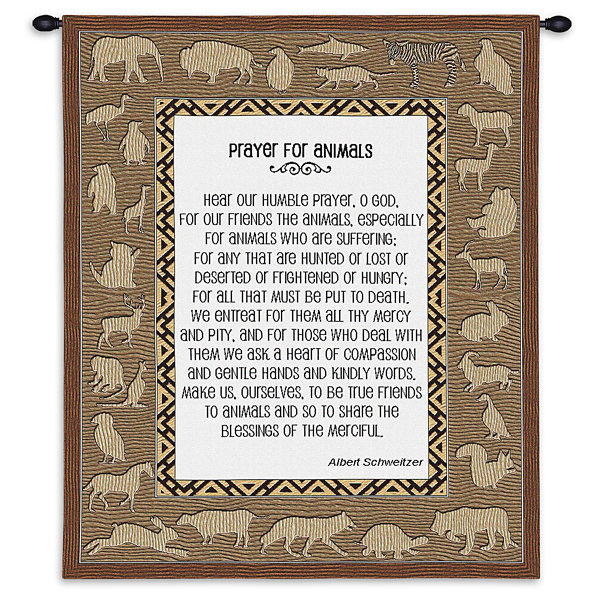 Prayer For Animals Wall Tapestry
