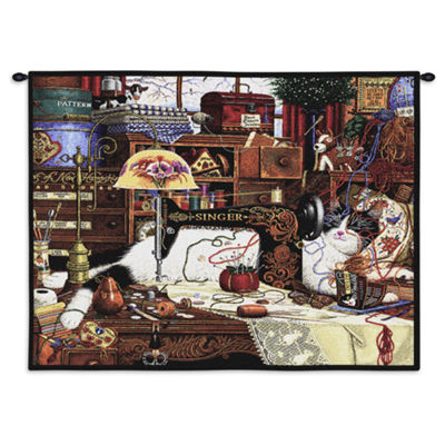 Maggie The Messmaker Wall Tapestry