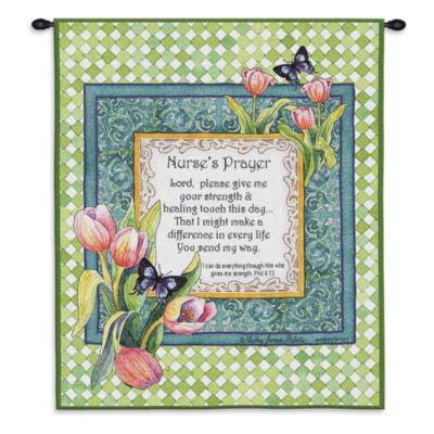Nurse's Prayer Wall Tapestry