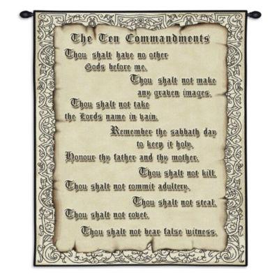 The Ten Commandments Wall Tapestry