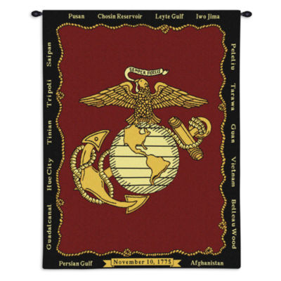 Marine Corp Wall Tapestry