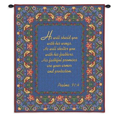 Psalms 91:4 Wall Tapestry