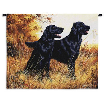 Flat-Coated Retriever Wall Tapestry