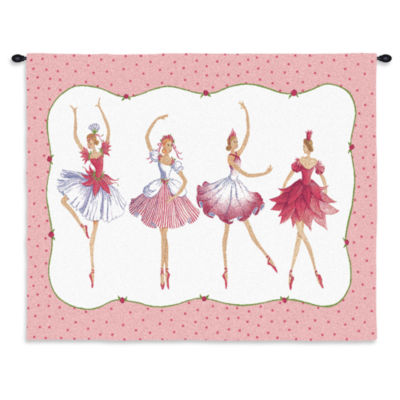 Four Ballerinas Wall Tapestry