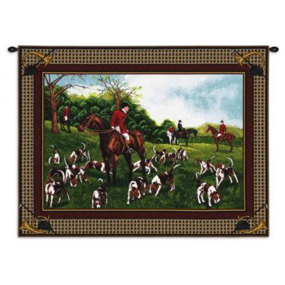 Fox Hunt Wall Tapestry