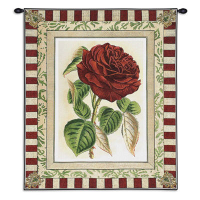 Red Rose I Wall Tapestry