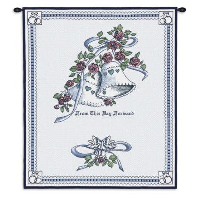 Matrimony Blue Wall Tapestry