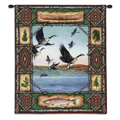 Geese Lodge Wall Tapestry