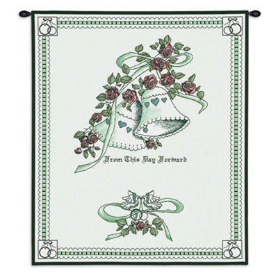 Matrimony Green Wall Tapestry