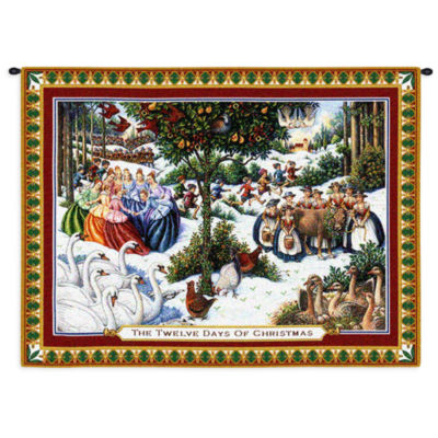 Twelve Days of Christmas Small Wall Tapestry