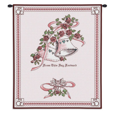 Matrimony Pink Wall Tapestry