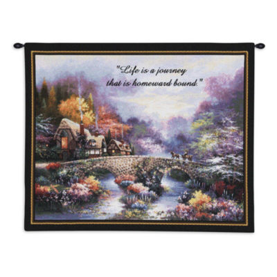 Going Home With Words Wall Tapestry