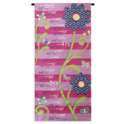 Growth Chart Girl Wall Tapestry