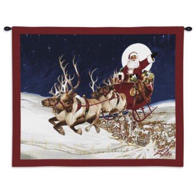 Merry Christmas to All Wall Tapestry