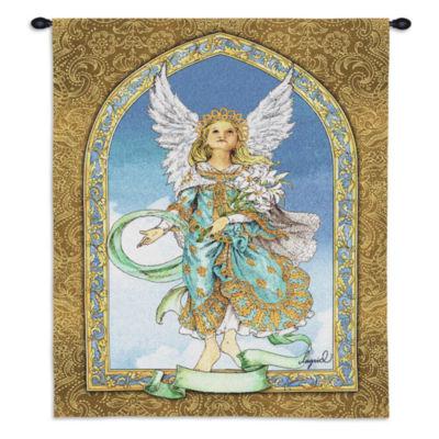 Mint Angel Wall Tapestry