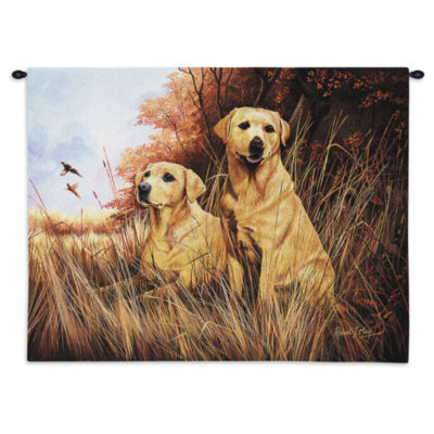 Labrador Retrievers Yellow Wall Tapestry