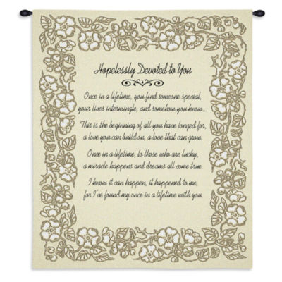 Wedding Embroidery Gold Wall Tapestry