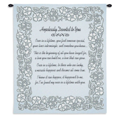 Wedding Embroidery Silver Wall Tapestry