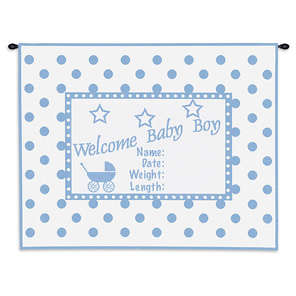 Welcome Baby Boy Wall Tapestry