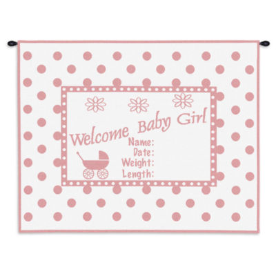 Welcome Baby Girl Wall Tapestry