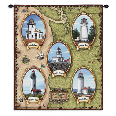 Lighthouses of the Northwest Wall Tapestry