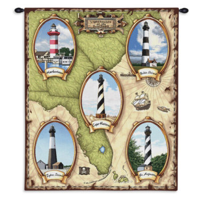Lighthouses of the Southeast II Wall Tapestry