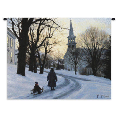 Winters Eve Wall Tapestry