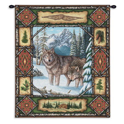 Wolf Lodge Wall Tapestry