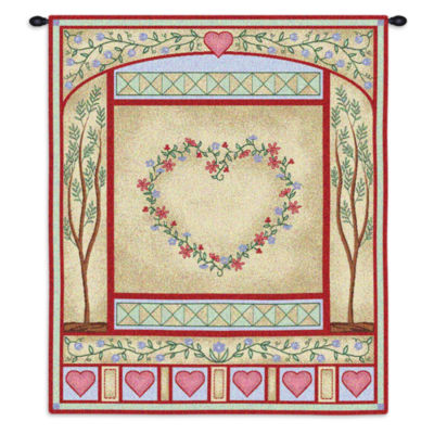 Love Quilt Pastel Wall Tapestry