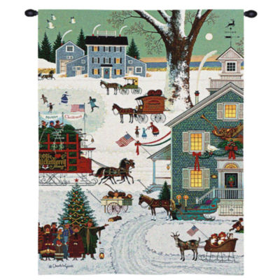 Cape Cod Christmas Wall Tapestry
