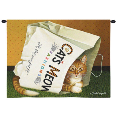 Cat's in Bag Wall Tapestry