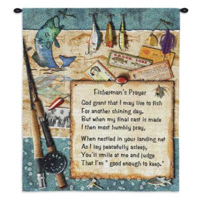 Fishermans Prayer Wall Tapestry
